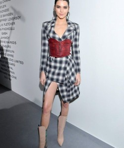 KENDALL JENNER in corset outfit