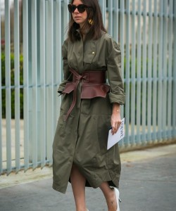 Natasha Goldenberg before the Loewe fashion show via Style Du Monde