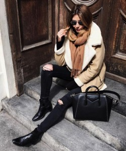 Outfit Ideas to Wear Shearling Jacket