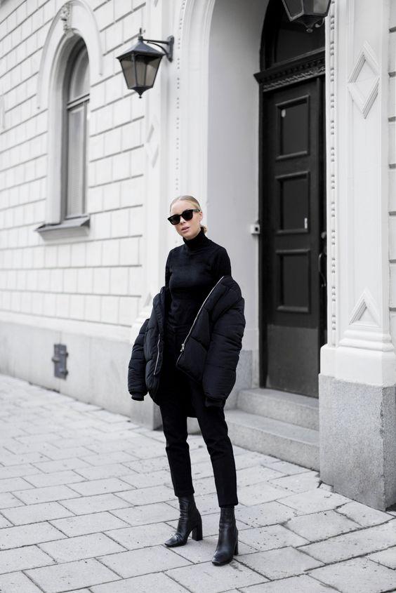 Black Puffer Jacket via victoriatornegren.se