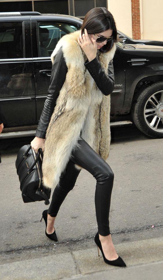 Kendall Jenner Furry Vest
