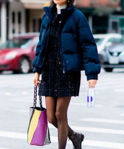 Navy Puffer Jacket via STEAL THE LOOK