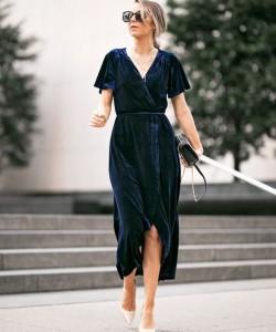 Velvet Dress For Thanksgiving