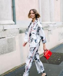 pajama street style via fashionclue.net