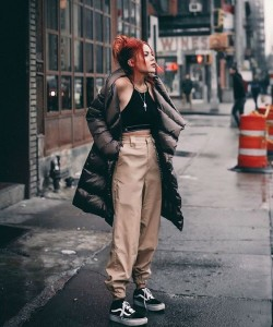 puffer jacket outfit
