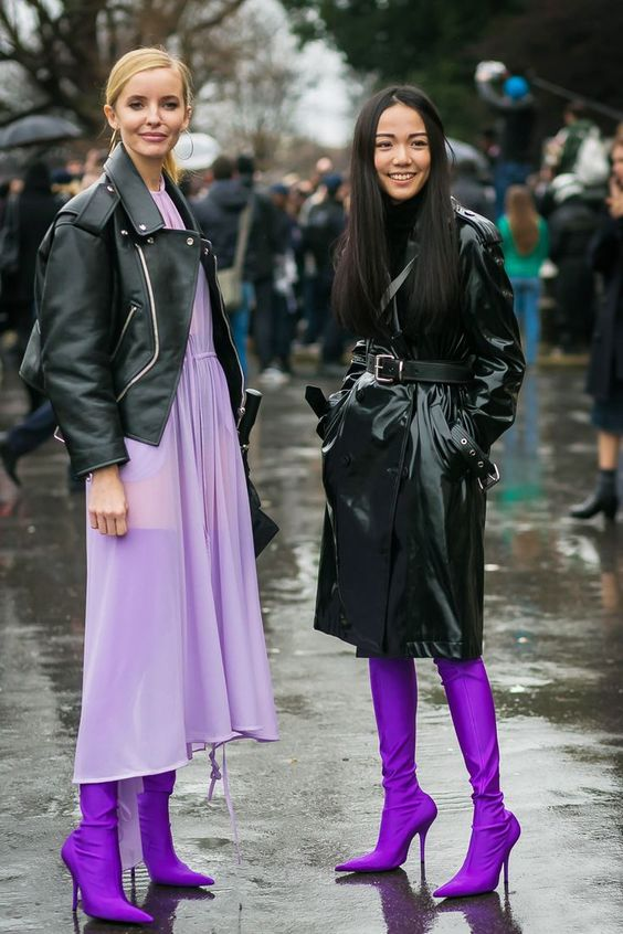 Balenciaga Boots in Paris Right Now via @WhoWhatWearAU