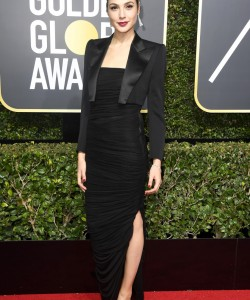 BEVERLY HILLS, CA - JANUARY 07: Gal Gadot attends The 75th Annual Golden Globe Awards at The Beverly Hilton Hotel on January 7, 2018 in Beverly Hills, California. (Photo by Frazer Harrison/Getty Images)