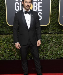 BEVERLY HILLS, CA - JANUARY 07:  Actor Milo Ventimiglia attends The 75th Annual Golden Globe Awards at The Beverly Hilton Hotel on January 7, 2018 in Beverly Hills, California.  (Photo by Frazer Harrison/Getty Images)