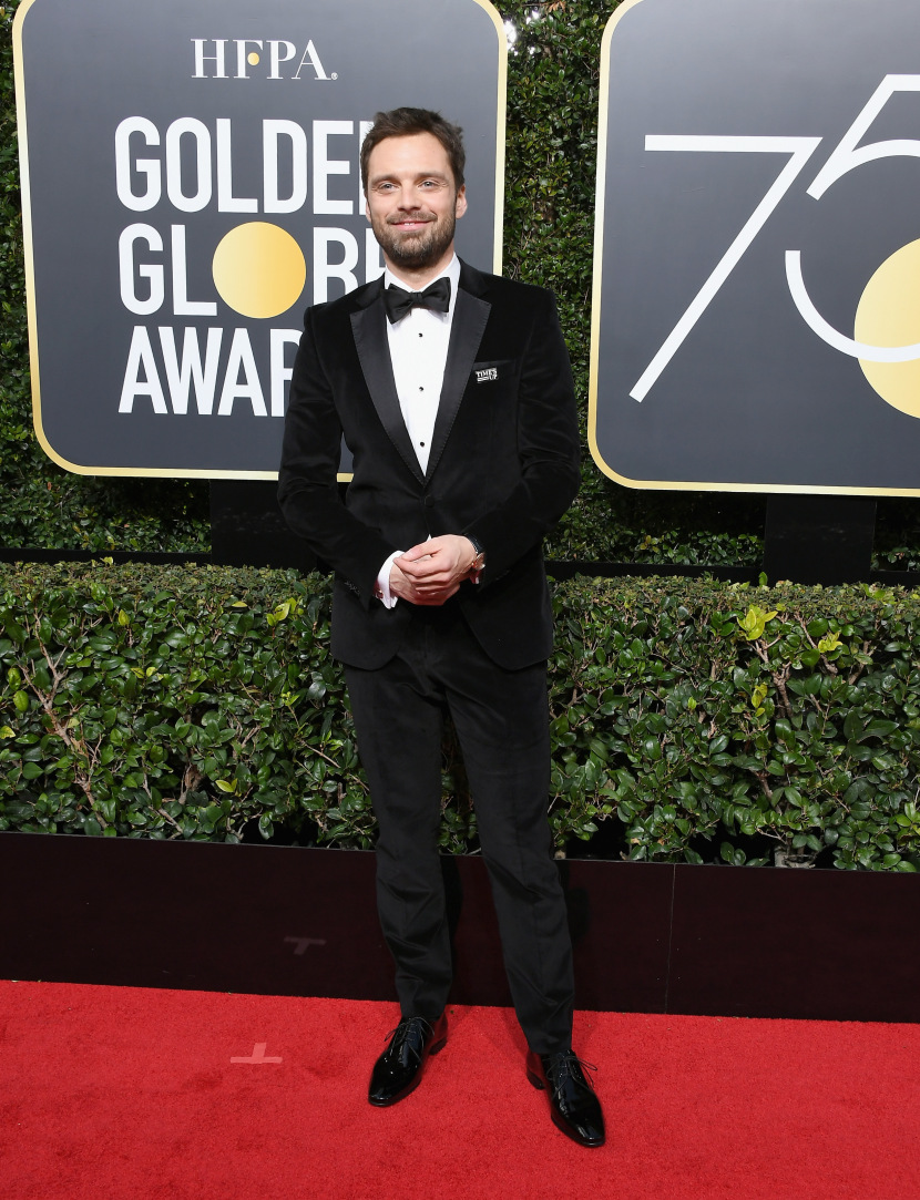 BEVERLY HILLS, CA - JANUARY 07:  Actor Sebastian Stan attends The 75th Annual Golden Globe Awards at The Beverly Hilton Hotel on January 7, 2018 in Beverly Hills, California.  (Photo by Steve Granitz/WireImage)