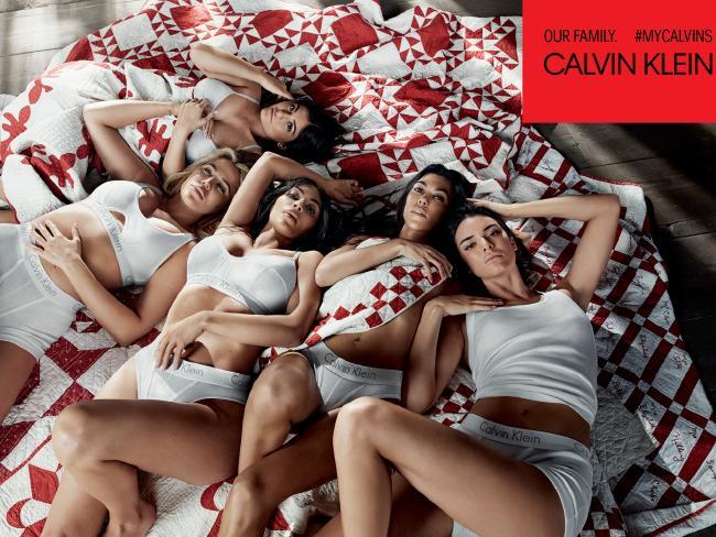 The Kardashian & Sisters Poses Calvin Klein's #MYCALVINS Campaign