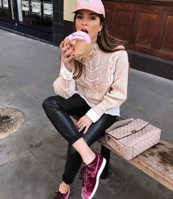 The Chic Ways to Style Your Velvet Sneakers This Season