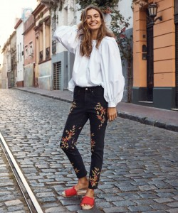 Andreea Diaconu stars in H&M's spring 2018 campaign