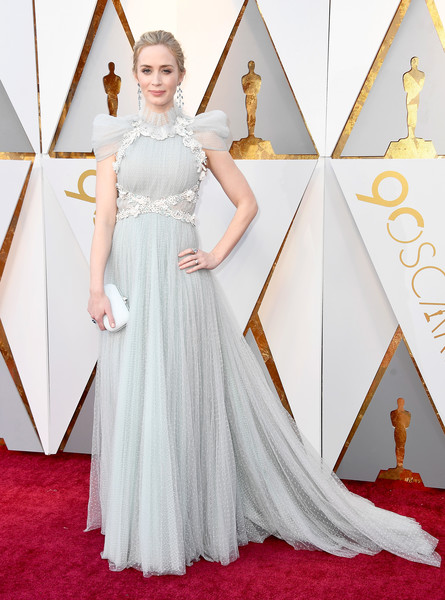Emily Blunt in Schiaparelli Haute Couture