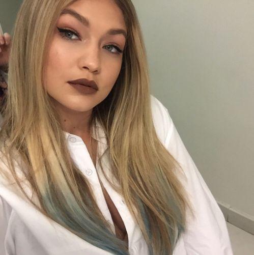Gigi Hadid brown lipstick