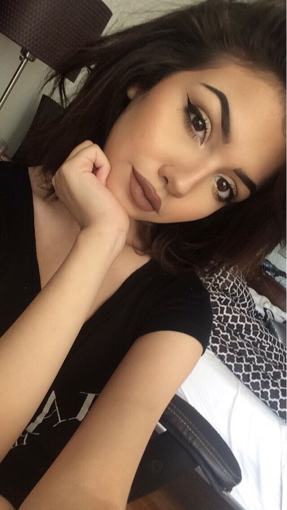 Trend brown lipstick