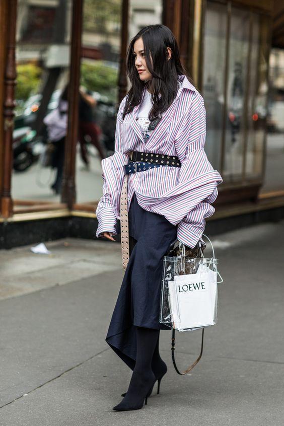 trend clear handbag