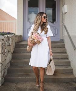 Formal White Dress Outfit via a Dallas Fashion Blog