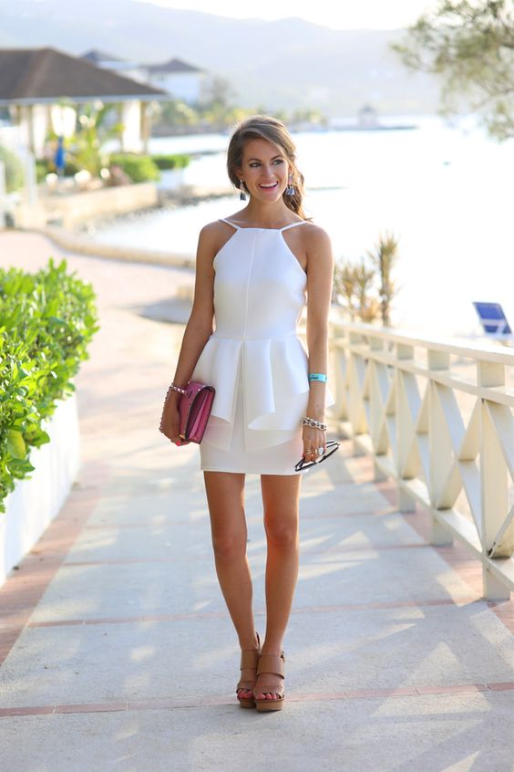 Formal White Dress via Caitlin C