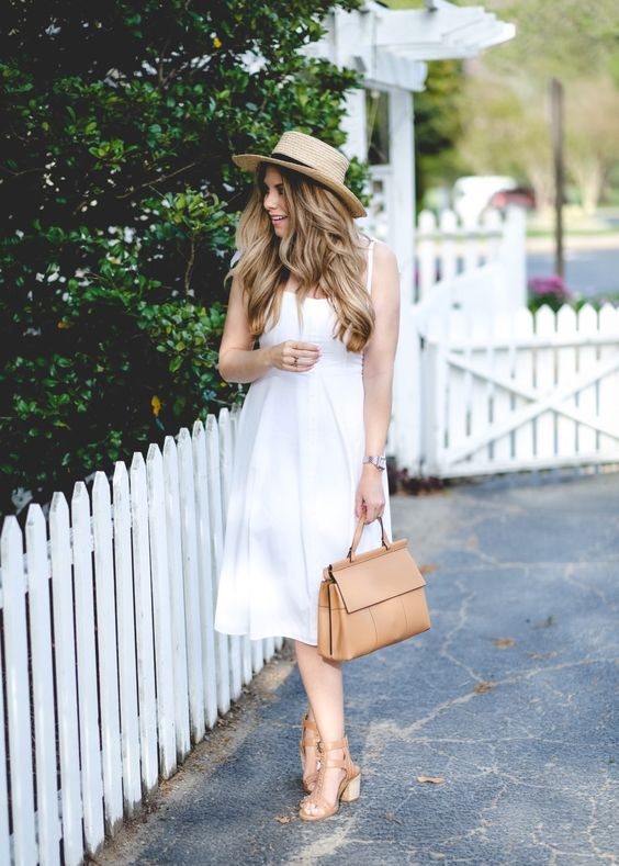 Summer chic white dress via Gal Meets Glam
