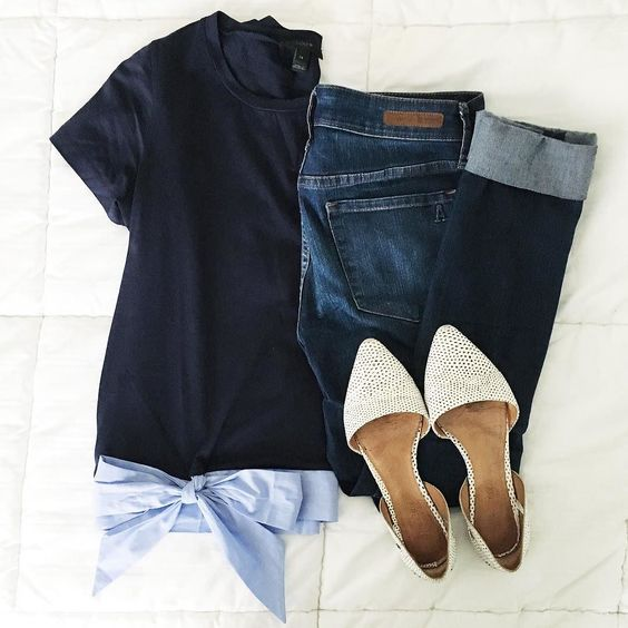 Summer outfit flats shoes