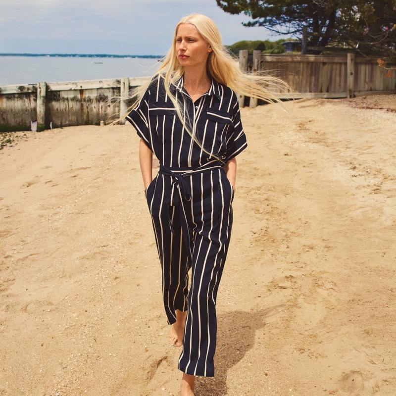 H&M Striped Jumpsuit