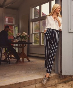 H&M Viscose-Blend Shirt and Paper-Bag Pants