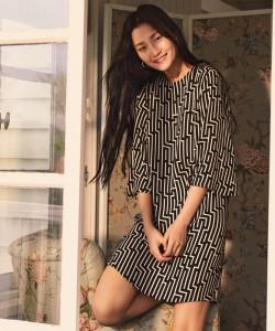 H&M x GP & J Baker Patterned Dress