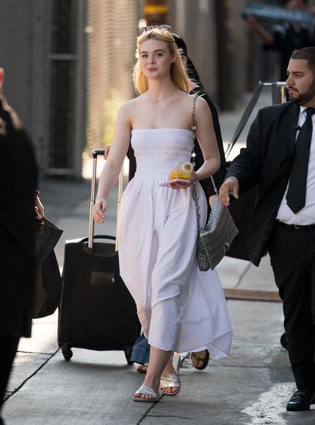 Strapless Dress and Slide Sandals