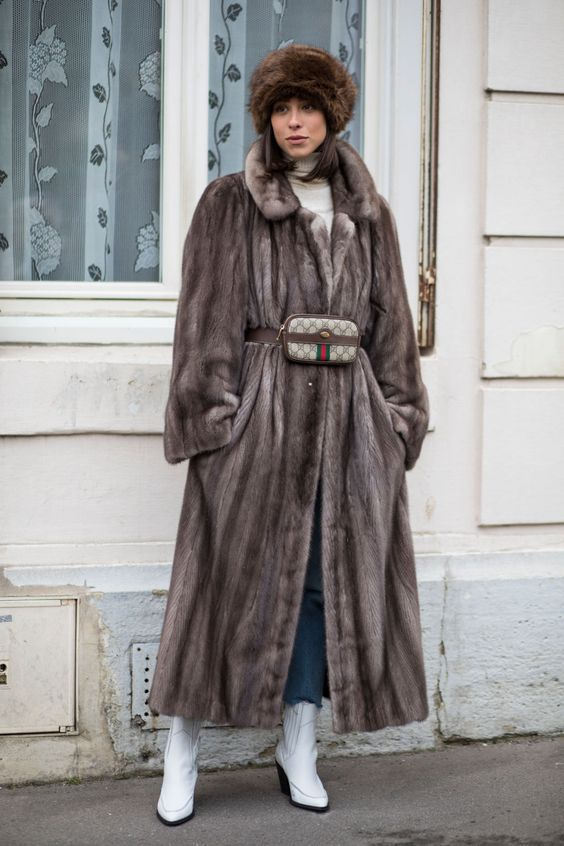 street chic mink style in paris