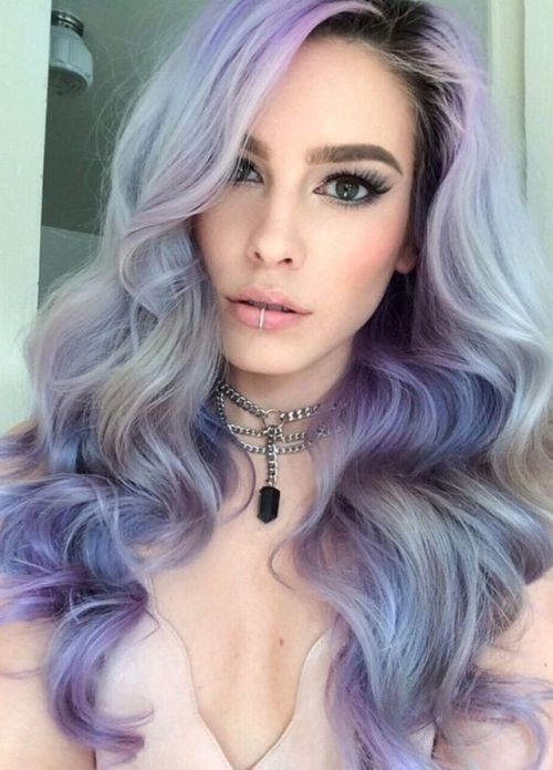 Mixed Pastel Hair Color