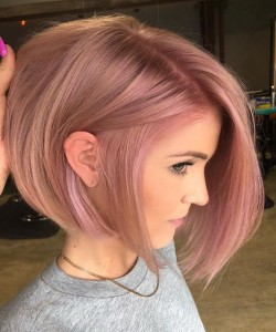 Mixed Peach Pink Hair color