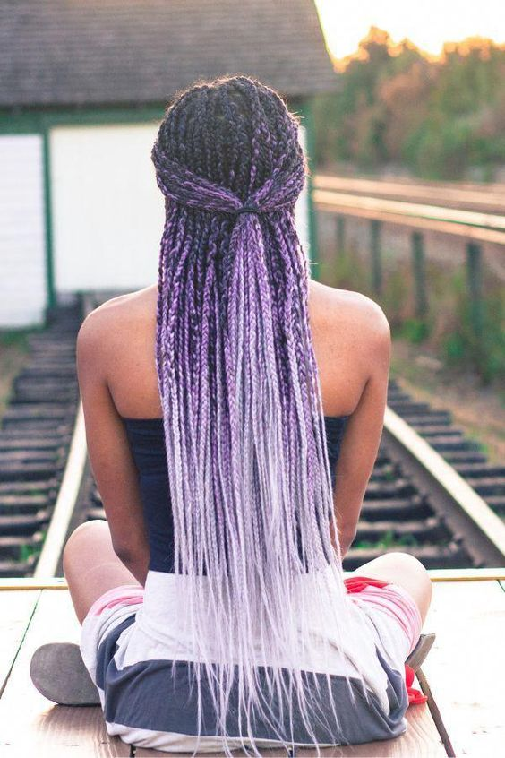 Lavender Ombre Box braids
