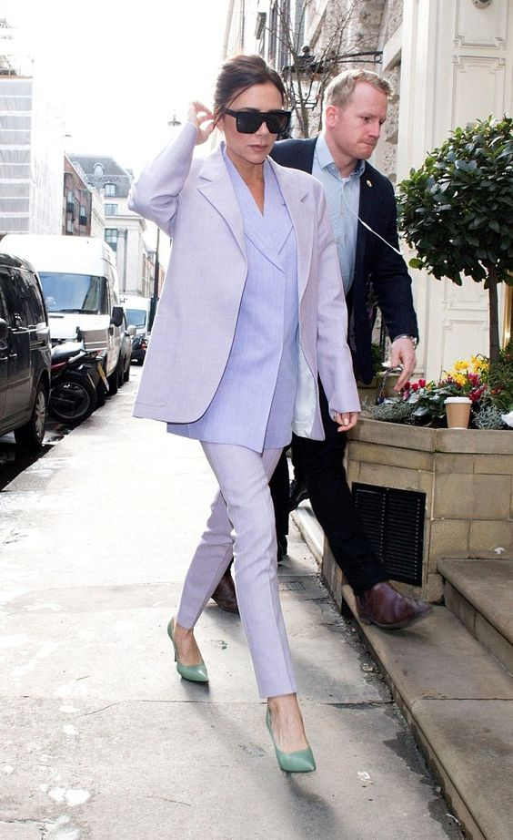Victoria Beckham wearing Victoria Beckham out in London