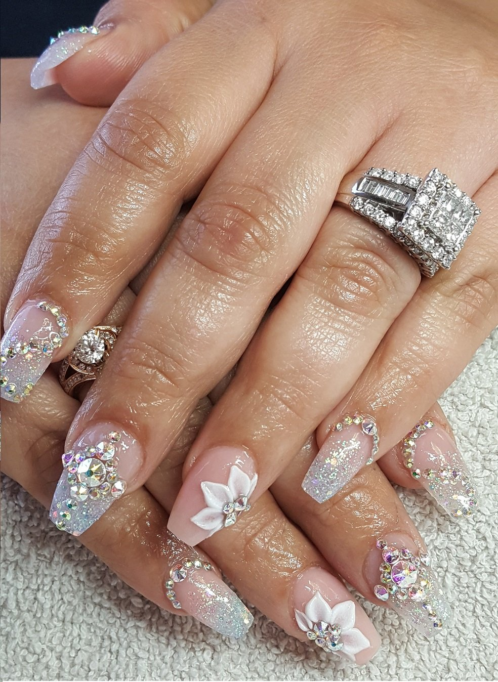 Bling Nails With Acrylic Details