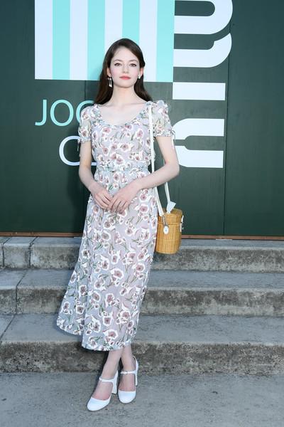 Mackenzie Foy Print Dress