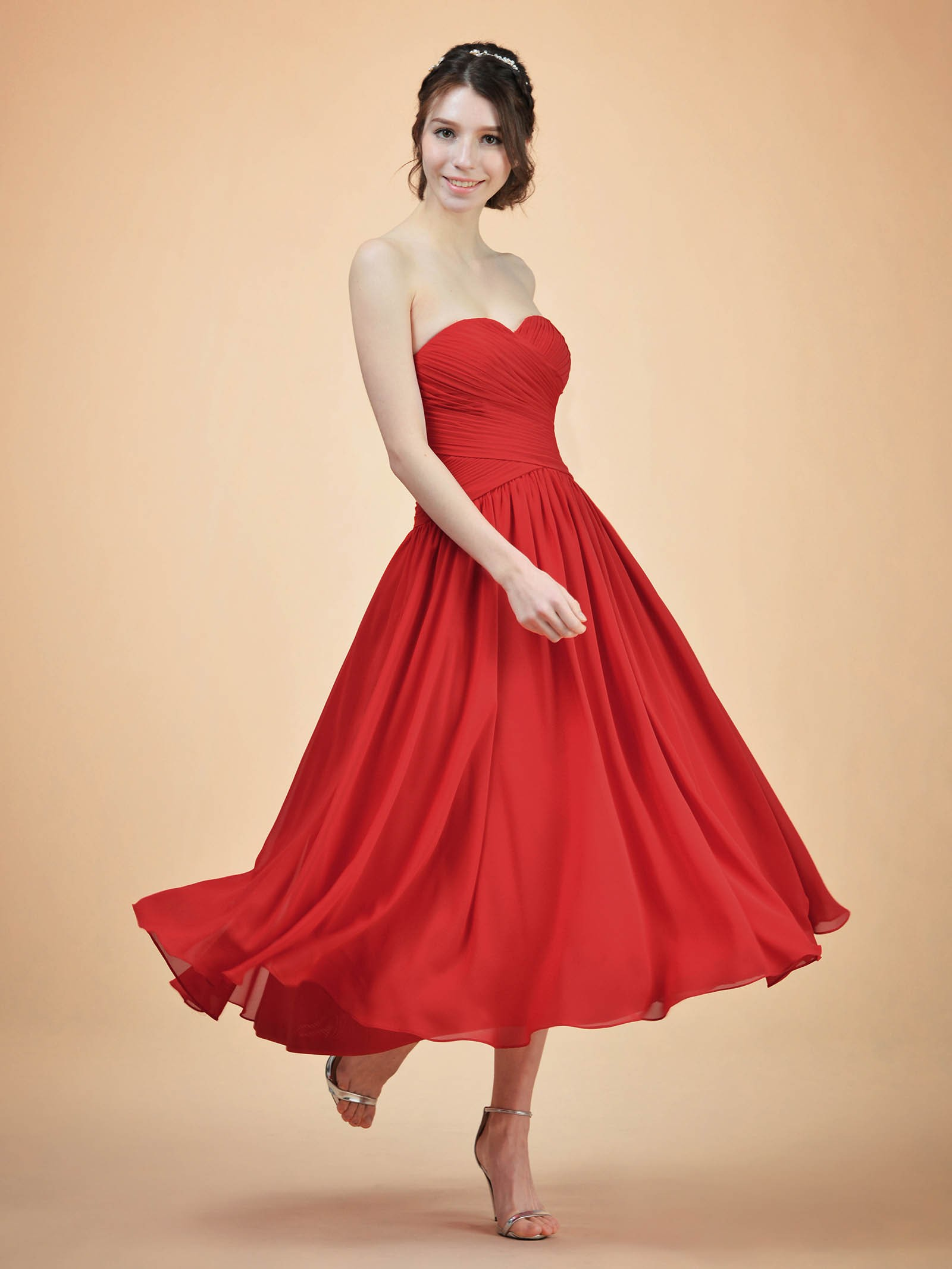 Basil Strapless Bridesmaid Dress