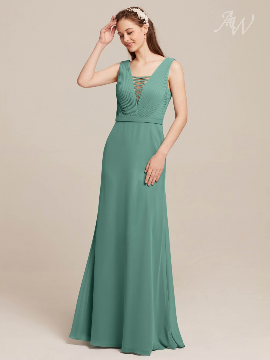 Clementine Square Neck Sleeveless Maxi Evening Dresses