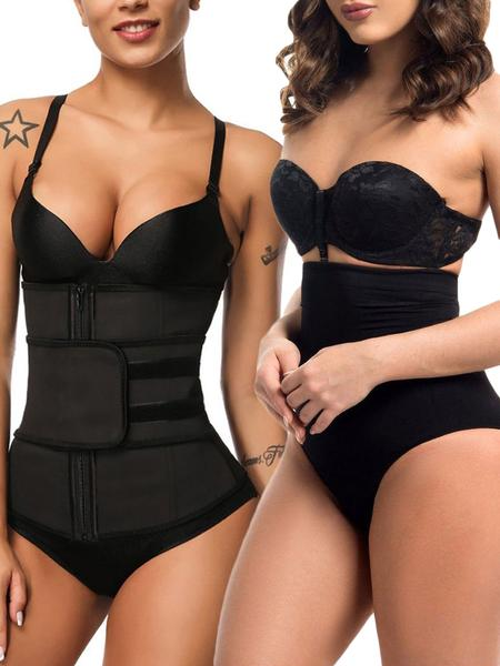 LOVERBEAUTY SPECIAL OFFER ZIP UP LATEX WAIST TRAINER WITH SHAPING SHORTS