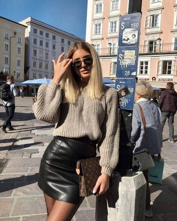 Leather Look outfit
