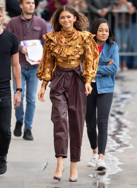 Zendaya Coleman Leather Pants