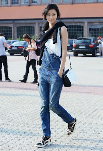 overall fall outfit