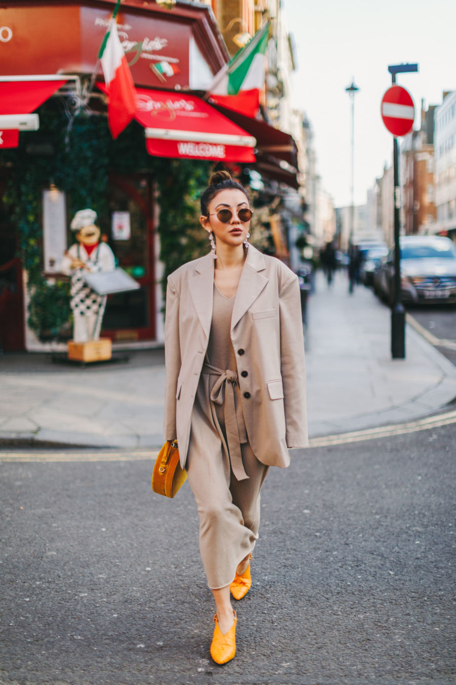 Oversized Blazer & Knit Dress via Notjessfashion