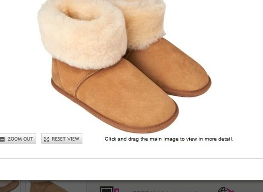 Jaeger Sheepskin Bootie Slippers