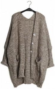 Loose cardigan sweater