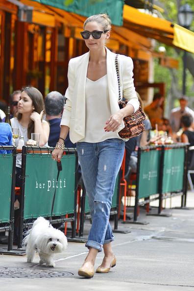 Olivia Palermo- Celebrities with White Blazer