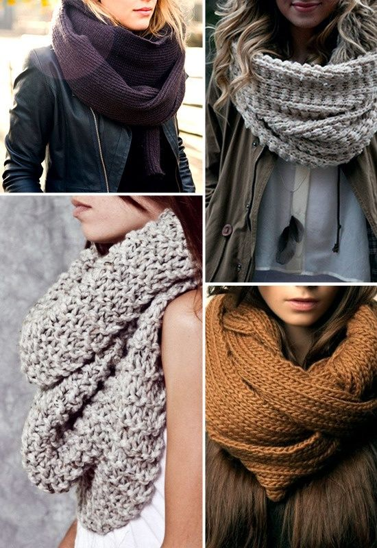 Scarf Knitting Styles : Trend fall winter looks with knit scarves celebrity