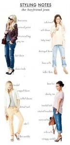 Ways to style a boyfriend jean