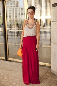 Awesome statement necklace with outfit
