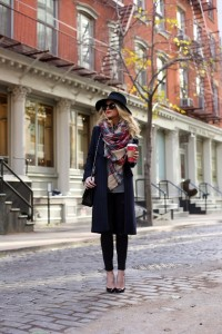 Black Coat dress outfit for winter