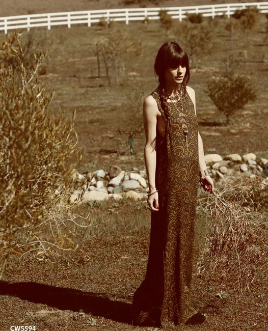 Chaser Fall Boho Long Dress